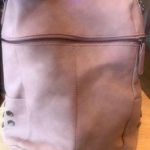 Handbags - Heathered Rose Colored Backpack Purse